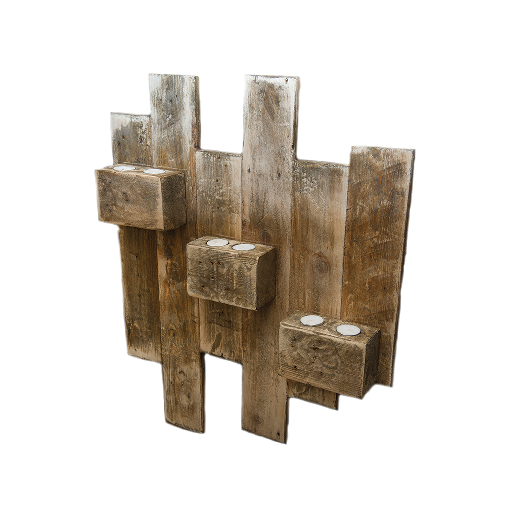 Large wall mounted candle holder